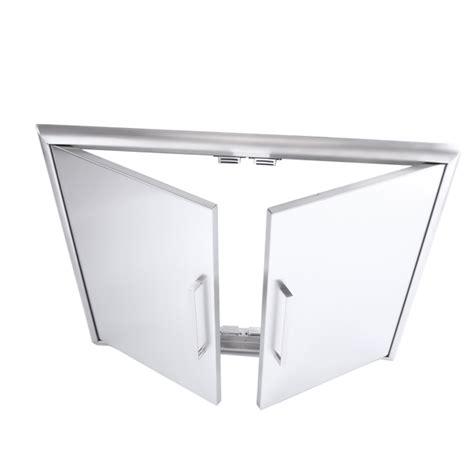 sunco built in stainless steel bbq 2 door bbq xl