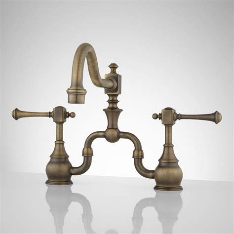 vintage kitchen faucets vintage bridge kitchen faucet with lever handles ebay
