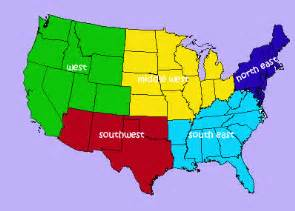 us map and regions united states regions third grade learning resources