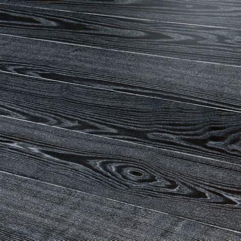 Kahrs Shine Ash Black Silver Wood Flooring   Engineered