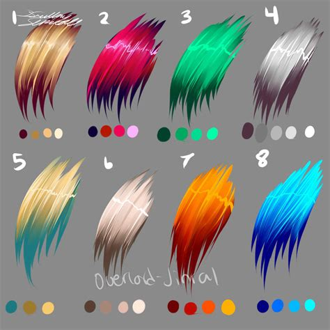 Hair Colors By Overlord Jinral On Deviantart Anime Hair Color