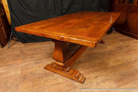 oak dining table kitchen farmhouse refectory tables ebay