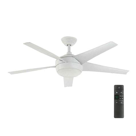 home depot white ceiling fan with remote home decorators collection windward iv 52 in led indoor