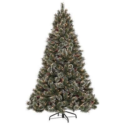 martha stewart living 7 5 glittery pine pre lit
