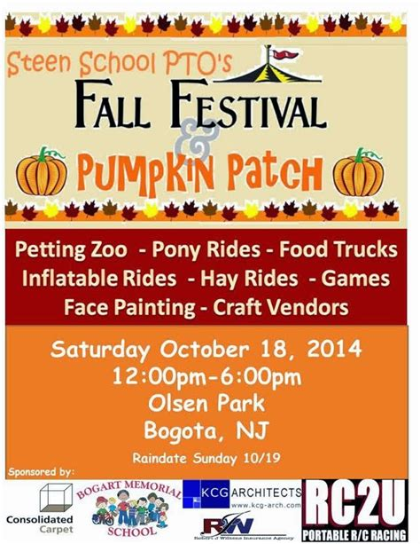 fall festival flyer template search fall