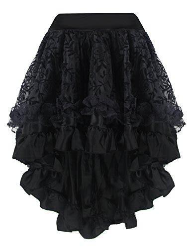 Rok Chiffon Layer Flare Skirt J775193 burvogue s steunk costume vintage multi layered chiffon skirt xxxxxx large