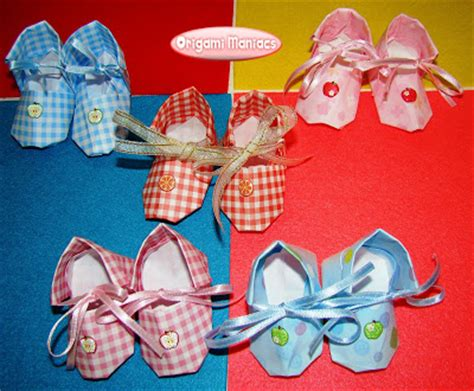 Origami Baby Shoes - origami maniacs origami baby shoes