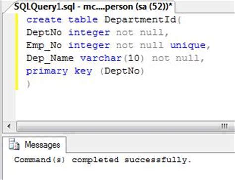 Sql Create Table Primary Key by Create Primary Key Sql Server 2008 T Sql