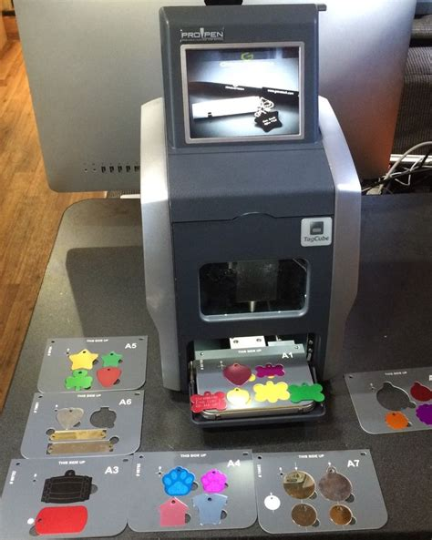 tag machine chewbarka pet tags engraving machine all in one gravograph tagcube refubished ebay