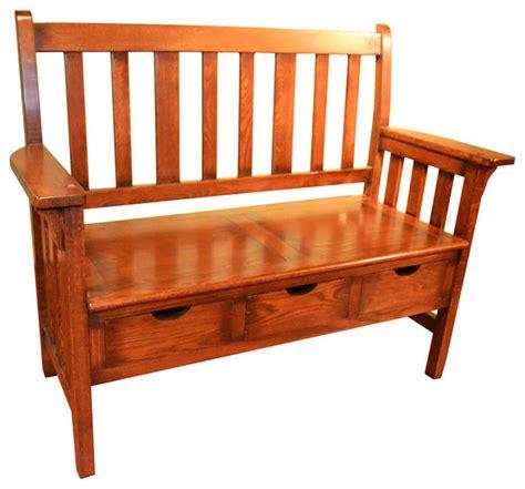 mission oak bench mission oak storage bench craftsman accent and storage