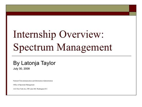 Internship Overview Presentation Final Internship Presentation Template