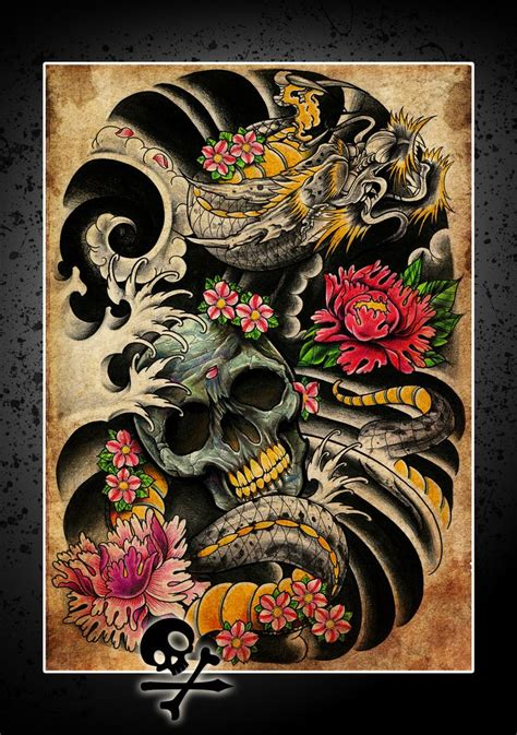 yakuza tattoo flash dragon poster thingy by willemxsm deviantart com on