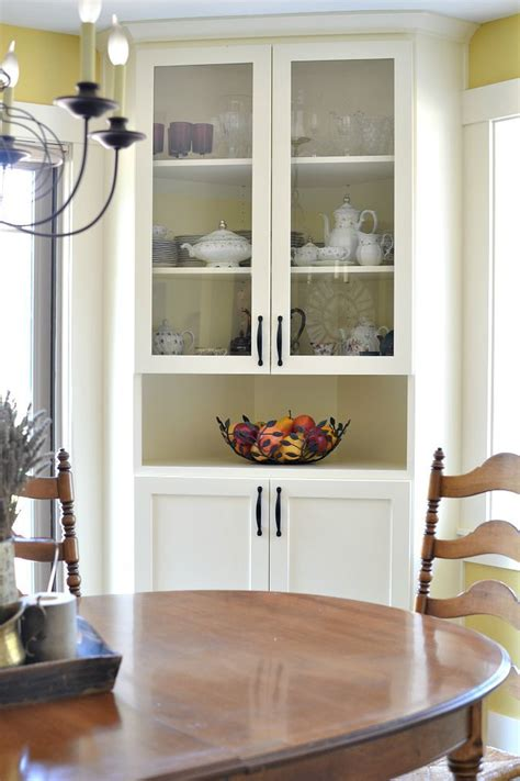 built in dining room cabinets before and after dining room makeover corner china
