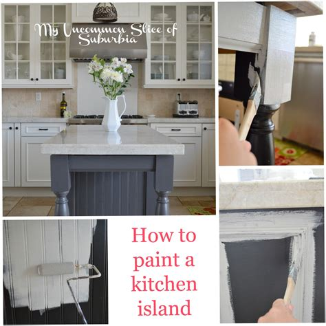 Painting A Kitchen Island painted kitchen island