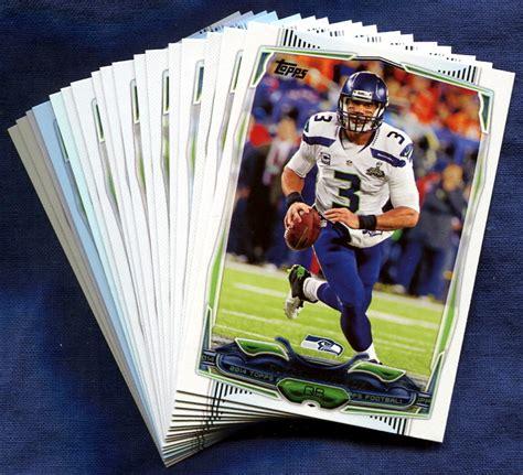 how to make a football card 2014 topps seattle seahawks nfl football card team set