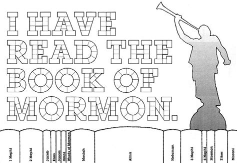 book of mormon coloring chart friend