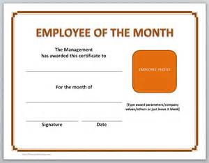 Free Employee Of The Month Certificate Template by Employee Of The Month Certificate Template Free Formats