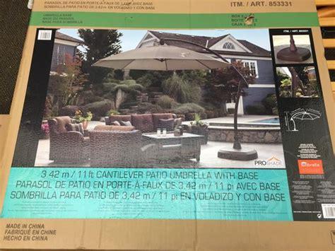 11ft patio umbrella pro shade cantilever patio umbrella 11ft furniture in