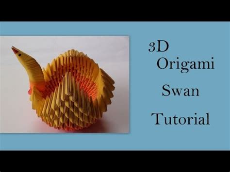 3d Origami Tutorial - 3d origami swan tutorial