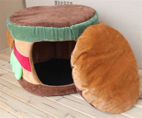 hamburger cat bed hamburger dog bed hamburger shaped pet dog cat tent house