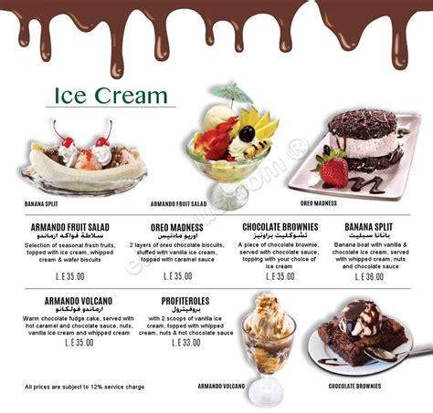 banana boat ice cream prices - Banana Boat Ice Cream Menu