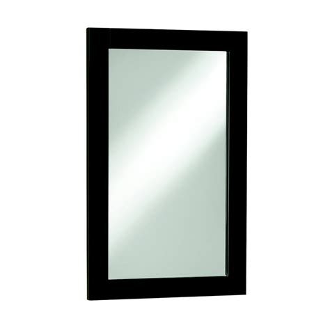 espresso mirror bathroom shop style selections euro style 30 in h x 20 in w