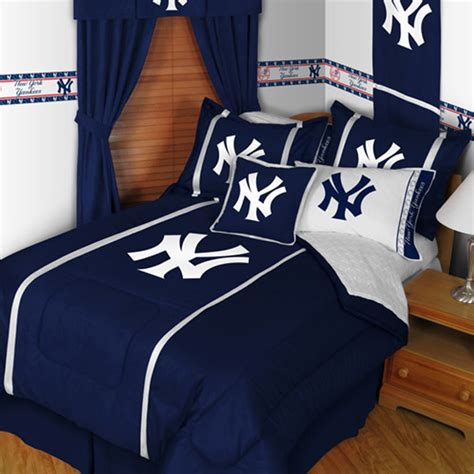 yankees bedroom new york yankees sidelines bedding