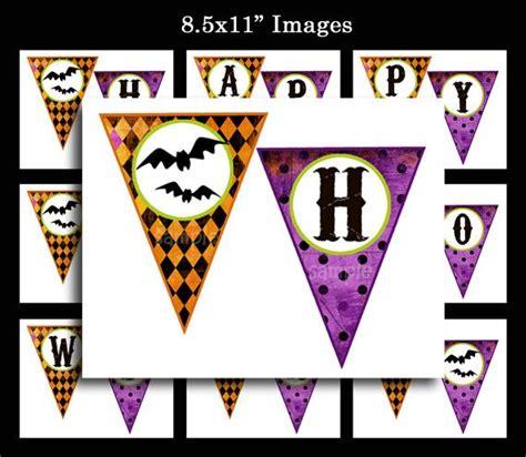 printable halloween birthday banner happy halloween printable bunting banner whimsical chic