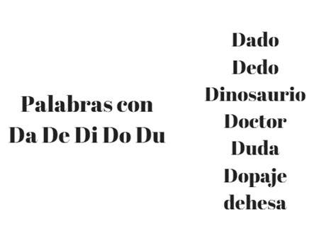 palabras con la letra y y ejemplos de palabras con y 1100 palabras con da de di do du en espa 241 ol lifeder