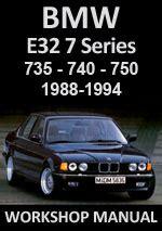 car service manuals pdf 1994 bmw 7 series regenerative braking bmw e32 735 740 750 1988 1994 workshop manual