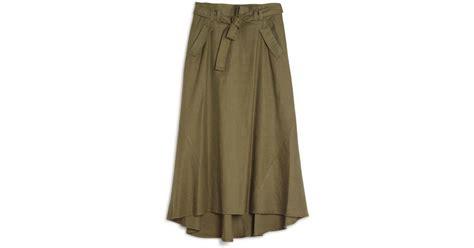 a l c jean cargo maxi skirt in lyst