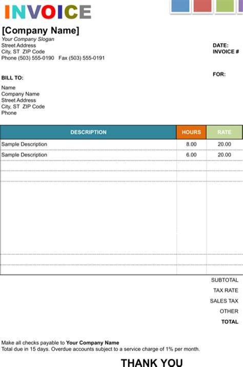 painting invoice template painting invoice templates for free