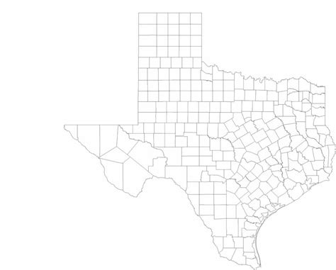 texas county lines map blank texas county map free
