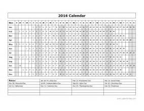 Calendar template 2016 yearly calendar template 15l free printable