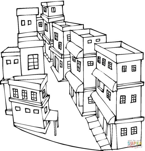 a street of a city coloring page free printable coloring