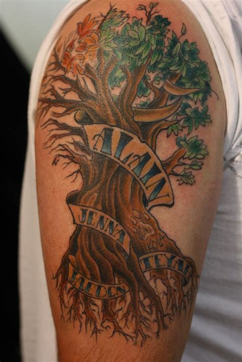 tree design tattoo family tree tattoos designs ideas and meaning tattoos
