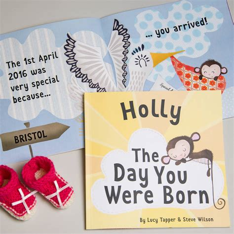 on the day you were the day you were born personalised new baby book by