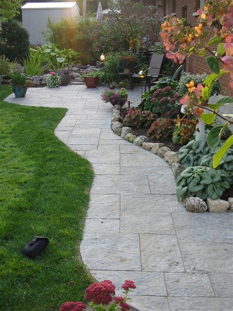 patios design patio walkway cobble stone robin aggus