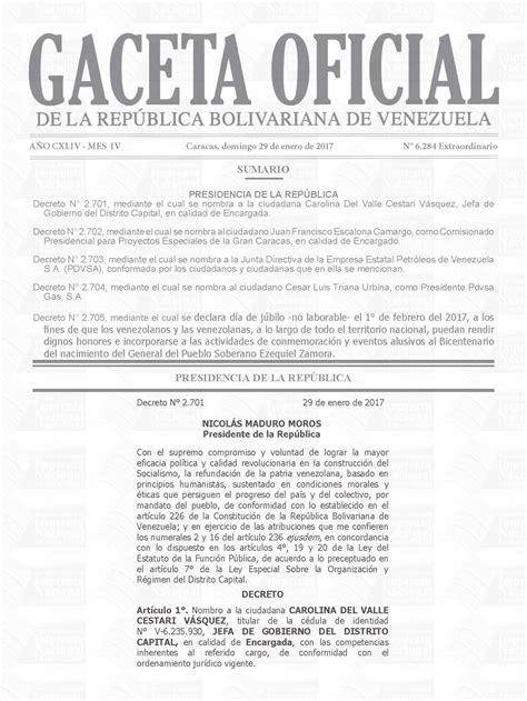gaceta nueva islr venezuela en gaceta oficial nueva directiva de pdvsa
