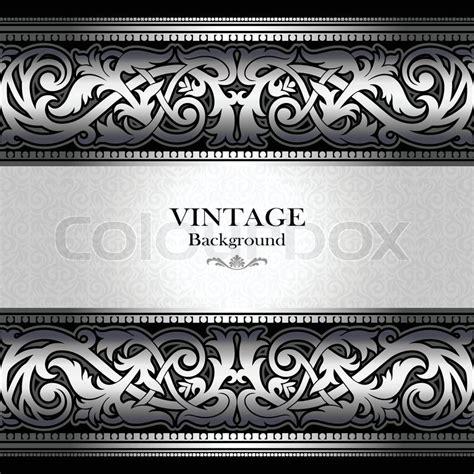 vintage silver background antique victorian ornament
