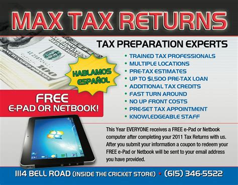 tax preparation flyers templates anuvrat info