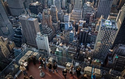 rockefeller center observation deck height обои manhattan america nyc height united states of