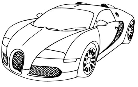 bubugatti veyron colouring pages