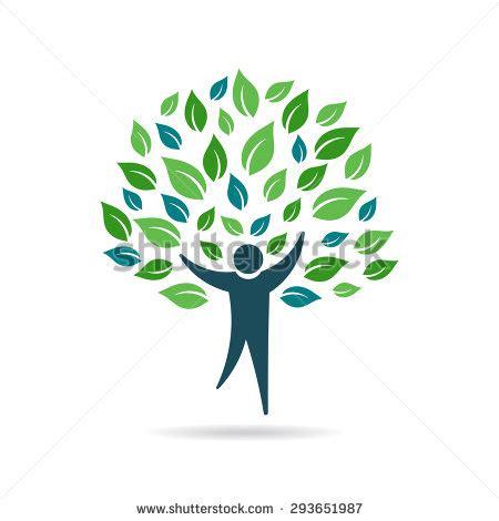 Set Of Trees Vintage Hand Drawn Royalty Free Vector Image Tree Logo Setpeople Logo Setfamily