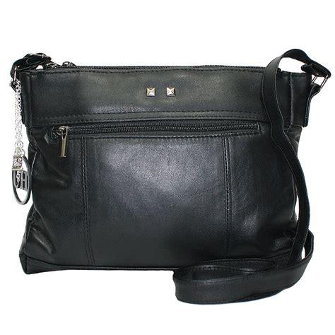 Large Bag womens large leather shoulder bag black