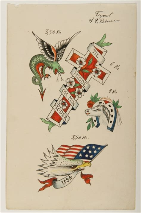 tattoo flash museum from the maritime museum 180 s collection of approximately 170
