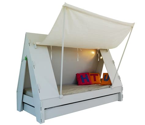 the bed tent trundle bed for children creatively closes into private tent with light