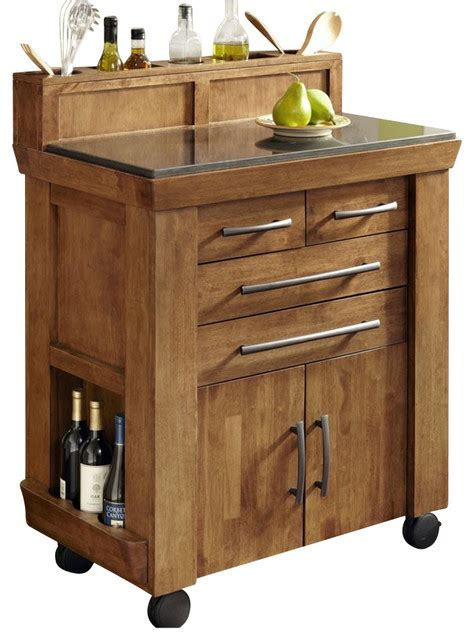 Oak Kitchen Carts And Islands Home Styles Vintage Gourmet Kitchen Cart In Black And Oak