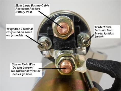 starter solenoid wiring  corvetteforum chevrolet corvette forum discussion