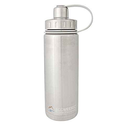 bed bath and beyond water bottle eco vessel 174 boulder insulated stainless steel water bottle